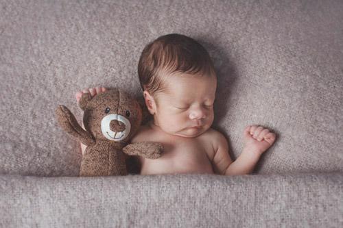 Reportaje Newborn: Lucas, un bebé dormilón