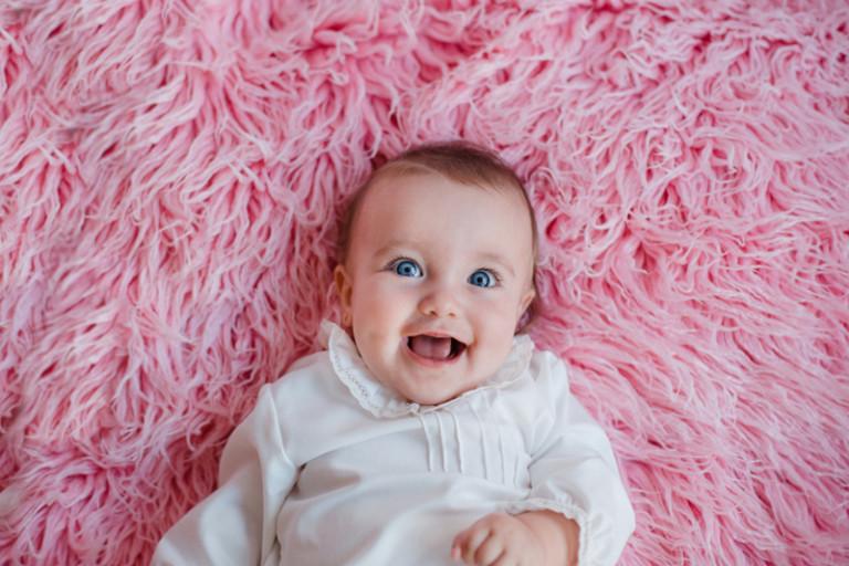 Sesión de bebé en estudio Vigo | Bebé J, 6 meses